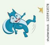 falling squirrel vector... | Shutterstock .eps vector #1255913578