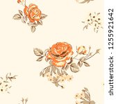trendy floral background with... | Shutterstock .eps vector #1255921642