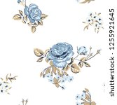 trendy floral background with... | Shutterstock .eps vector #1255921645