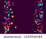 pink cyan blue gold glowing... | Shutterstock .eps vector #1255936585