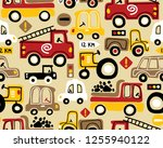 seamless pattern vector with...   Shutterstock .eps vector #1255940122