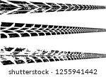 vector print textured tire... | Shutterstock .eps vector #1255941442