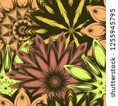 seamless floral background.... | Shutterstock .eps vector #1255945795
