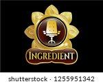 golden emblem with office... | Shutterstock .eps vector #1255951342
