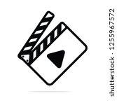 film icon stock vector. movie...