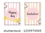 bridal shower card with dots... | Shutterstock .eps vector #1255974505