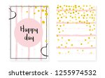 bridal shower set with dots and ... | Shutterstock .eps vector #1255974532