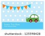 cute car tag | Shutterstock .eps vector #125598428