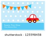 cute car tag | Shutterstock .eps vector #125598458