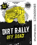 dirt rally. extreme off road... | Shutterstock .eps vector #1256000485