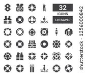 lifesaver icon set. collection... | Shutterstock .eps vector #1256000842