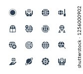 worldwide icon set. collection... | Shutterstock .eps vector #1256000902