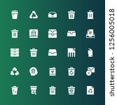 bin icon set. collection of 25...   Shutterstock .eps vector #1256005018