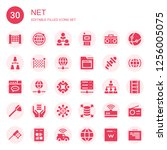 net icon set. collection of 30... | Shutterstock .eps vector #1256005075