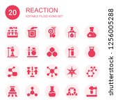 reaction icon set. collection... | Shutterstock .eps vector #1256005288