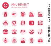 amusement icon set. collection... | Shutterstock .eps vector #1256008522