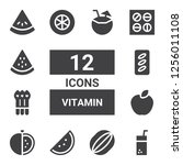vitamin icon set. collection of ... | Shutterstock .eps vector #1256011108