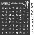 doctor and medical vector icon... | Shutterstock .eps vector #1256013472