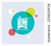 3d  dimensional  machine ... | Shutterstock .eps vector #1256014918