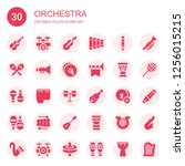 Orchestra Icon Set. Collection...