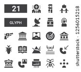 glyph icon set. collection of...   Shutterstock .eps vector #1256015218