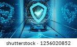 blue underground cyber security ... | Shutterstock . vector #1256020852