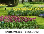 Flower Beds In Scenic Garden O...