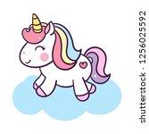 illustration of unicorn cartoon   Shutterstock .eps vector #1256025592
