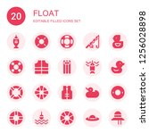 float icon set. collection of... | Shutterstock .eps vector #1256028898