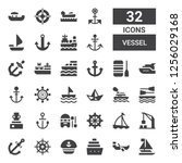 vessel icon set. collection of... | Shutterstock .eps vector #1256029168