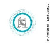 3d  dimensional  machine ... | Shutterstock .eps vector #1256035522