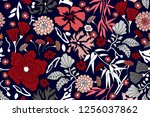japanese style print. seamless...   Shutterstock .eps vector #1256037862