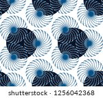 graphic floral tracery grid... | Shutterstock .eps vector #1256042368