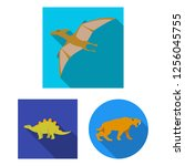 vector design of animal and... | Shutterstock .eps vector #1256045755
