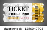 admission ticket template.... | Shutterstock .eps vector #1256047708