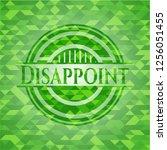 disappoint green mosaic emblem | Shutterstock .eps vector #1256051455