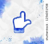 up hand watercolor icon.... | Shutterstock .eps vector #1256051938