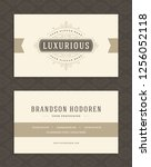 luxury business card and... | Shutterstock .eps vector #1256052118