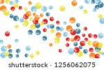 pretty floral pattern with... | Shutterstock .eps vector #1256062075