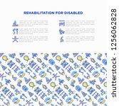 rehabilitation for disabled...   Shutterstock .eps vector #1256062828