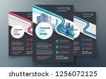 corporate flyer design template ...   Shutterstock .eps vector #1256072125