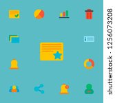 set of project icons flat style ... | Shutterstock . vector #1256073208
