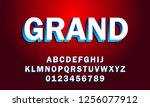 vector of bold modern font and... | Shutterstock .eps vector #1256077912