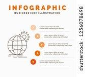 international  business  globe  ... | Shutterstock .eps vector #1256078698