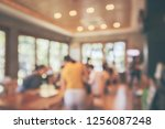restaurant cafe or coffee shop... | Shutterstock . vector #1256087248