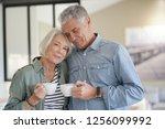 loving portrait of modern... | Shutterstock . vector #1256099992