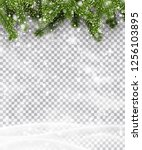 christmas and new year poster... | Shutterstock .eps vector #1256103895