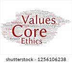 vector conceptual core values...   Shutterstock .eps vector #1256106238