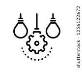 vector icon for idea | Shutterstock .eps vector #1256122672