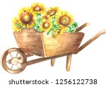 Wooden Wheelbarrow With...